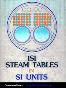 Steam Tables thermodynamics