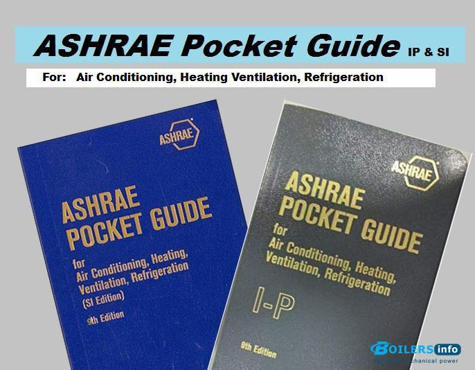 ASHRAE Pocket Guide for Air-Conditioning, Heating, Ventilation and Refrigeration, SI and IP 9th edition